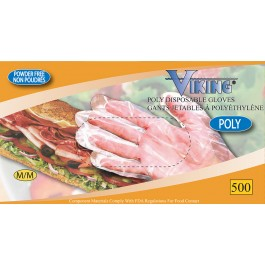 00142-00143 Viking® Poly Disposable Gloves