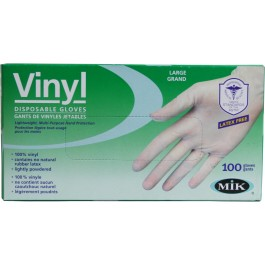 34100 Phthalate-Free Vinyl Disposable Gloves