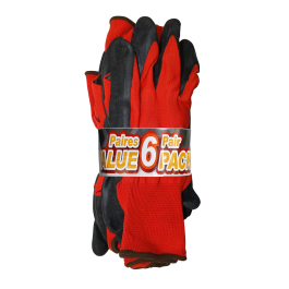52224-ELD422 Open Road® Value Pack Polyester Gloves with Latex Coating