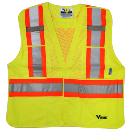 6125G Viking® 5pt. Tear Away Safety Vest