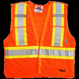 6125O Viking® 5pt. Tear Away Safety Vest