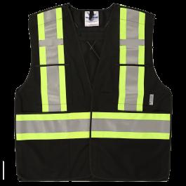 6135BK Viking® 5pt. Tear Away Safety Vest