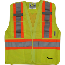 6135G Viking® 5pt. Tear Away Safety Vest