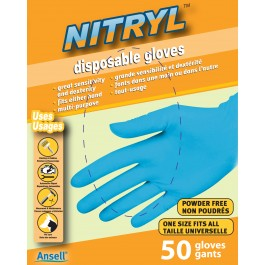 84052 Viking® Nitryl Disposable Gloves