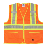6112O Open Road® Zipper Safety Vest
