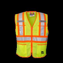 U6112G Open Road® Zipper Safety Vest