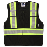 6135BK Viking® 5pt. Tear Away Safety Vest