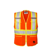 U6112O Open Road® Zipper Safety Vest