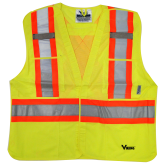 U6125G Viking® 5pt. Tear Away Safety Vest