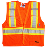 U6125O Viking® 5pt. Tear Away Safety Vest