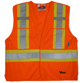 U6135O Viking® 5pt. Tear Away Safety Vest